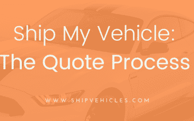 Vehicle Shipping Quote Process