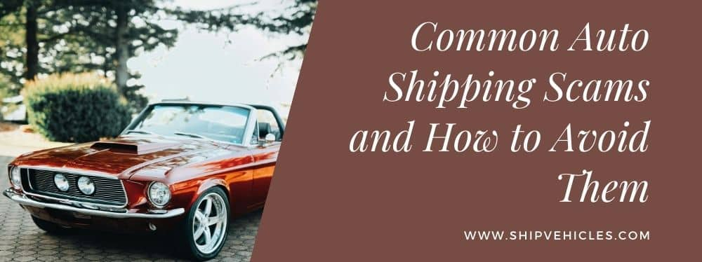 Common Auto Shipping Scams and How to Avoid Them